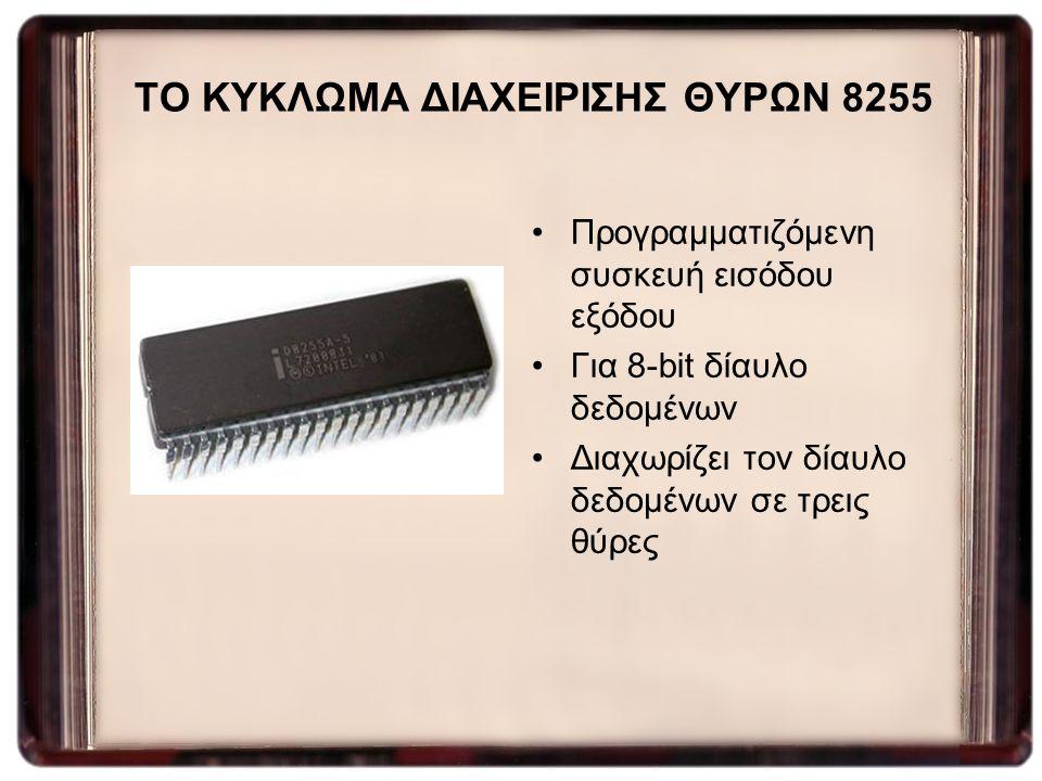ΤΟ ΚΥΚΛΩΜΑ ΔΙΑΧΕΙΡΙΣΗΣ ΘΥΡΩΝ 8255