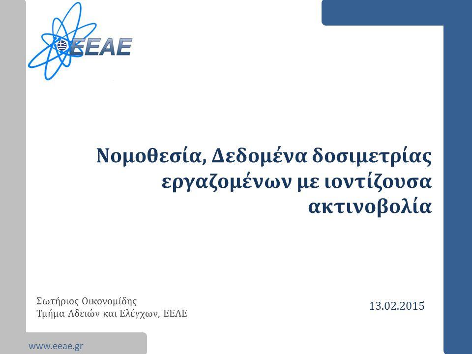 Νομοθεσία, Δεδομένα δοσιμετρίας εργαζομένων με ιοντίζουσα ακτινοβολία