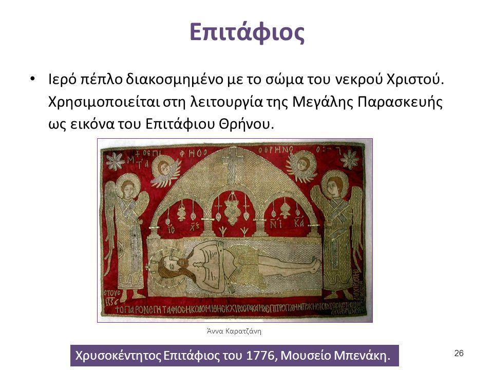 Μάκτρον Λειτουργικό ύφασμα το οποίο κρατάει ο Ιεράς κοντά στο πιγούνι του πιστού κατά τη διάρκεια της Θείας Κοινωνίας, για λόγους προστασίας.