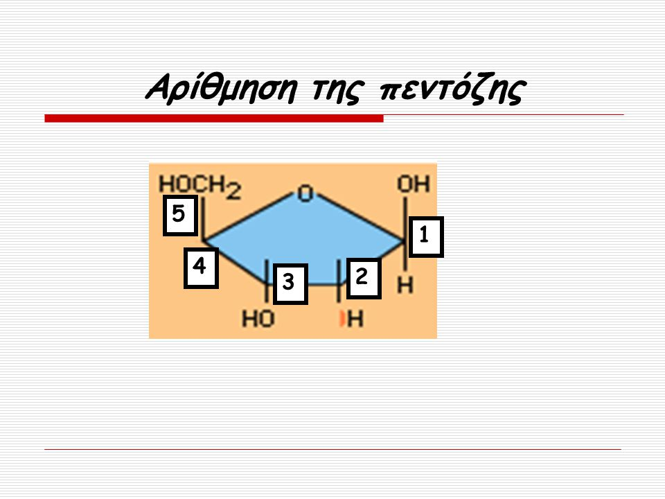 Αρίθμηση της πεντόζης 5 1 4 2 3