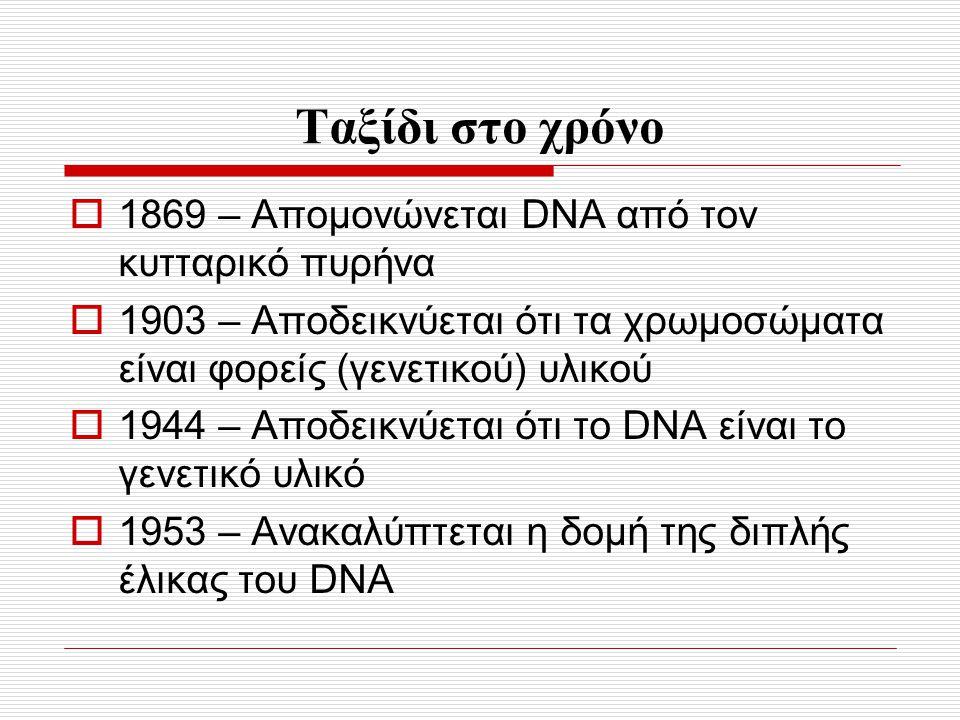 Ταξίδι στο χρόνο 1869 – Απομονώνεται DNA από τον κυτταρικό πυρήνα