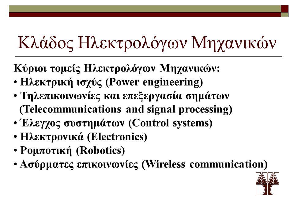 Κλάδος Ηλεκτρολόγων Μηχανικών