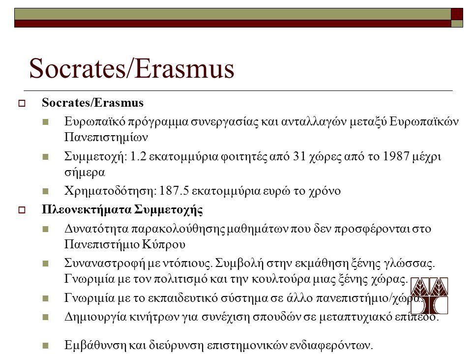 Socrates/Erasmus Socrates/Erasmus