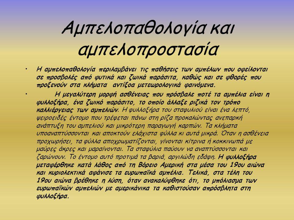 Αμπελοπαθολογία και αμπελοπροστασία