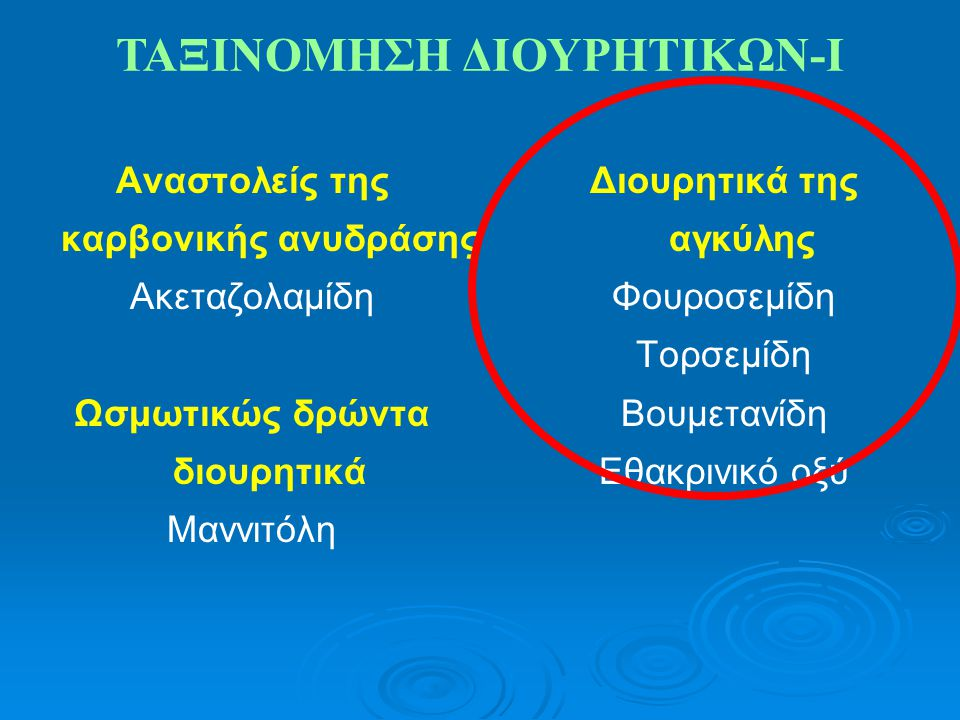 ΤΑΞΙΝΟΜΗΣΗ ΔΙΟΥΡΗΤΙΚΩΝ-Ι