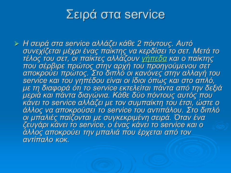 Σειρά στα service