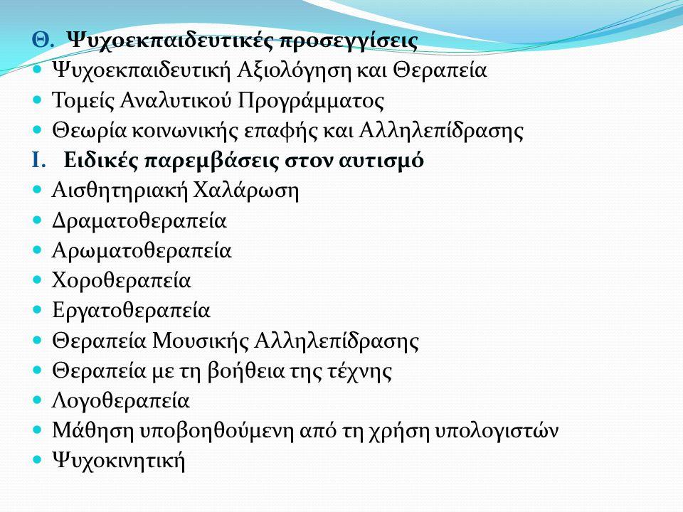 Θ. Ψυχοεκπαιδευτικές προσεγγίσεις