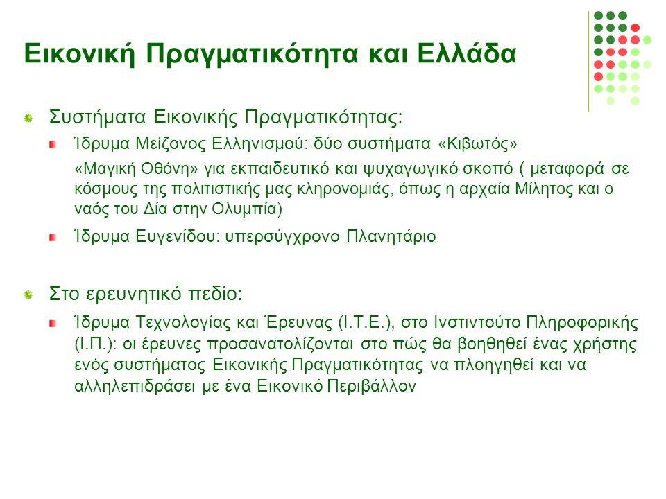 Εικονική Πραγματικότητα και Ελλάδα