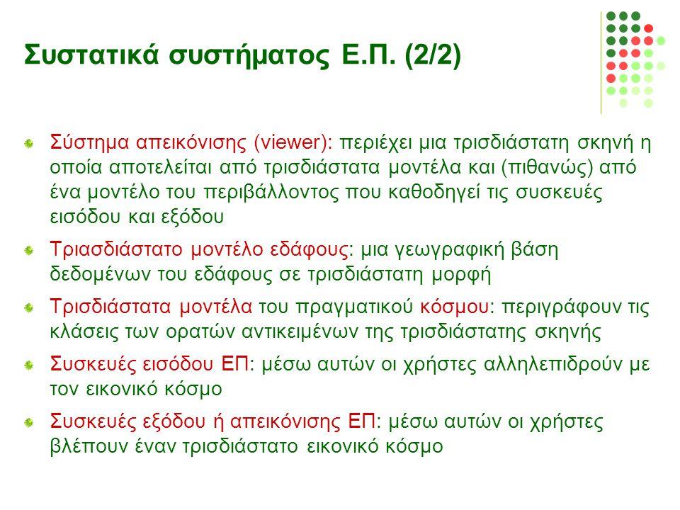 Συστατικά συστήματος Ε.Π. (2/2)