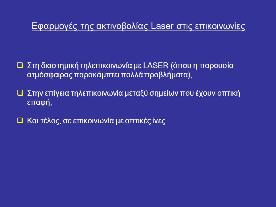 Εφαρμογές της ακτινοβολίας Laser στις επικοινωνίες