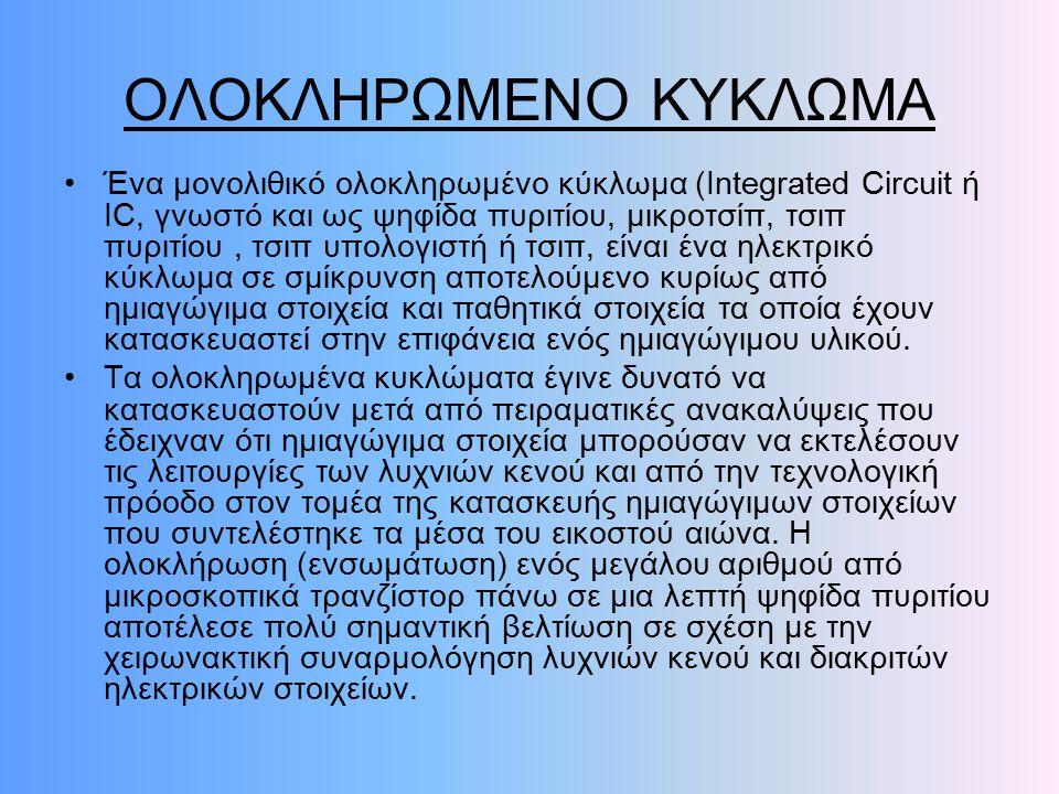 ΟΛΟΚΛΗΡΩΜΕΝΟ ΚΥΚΛΩΜΑ