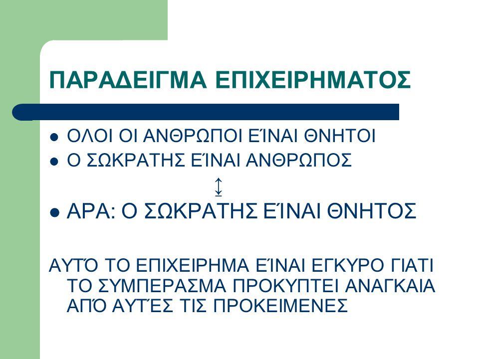 ΠΑΡΑΔΕΙΓΜΑ ΕΠΙΧΕΙΡΗΜΑΤΟΣ