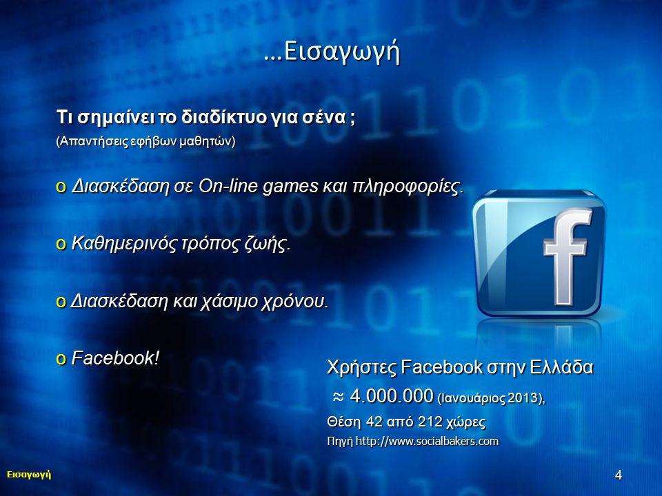 …Εισαγωγή Τι σημαίνει το διαδίκτυο για σένα ;
