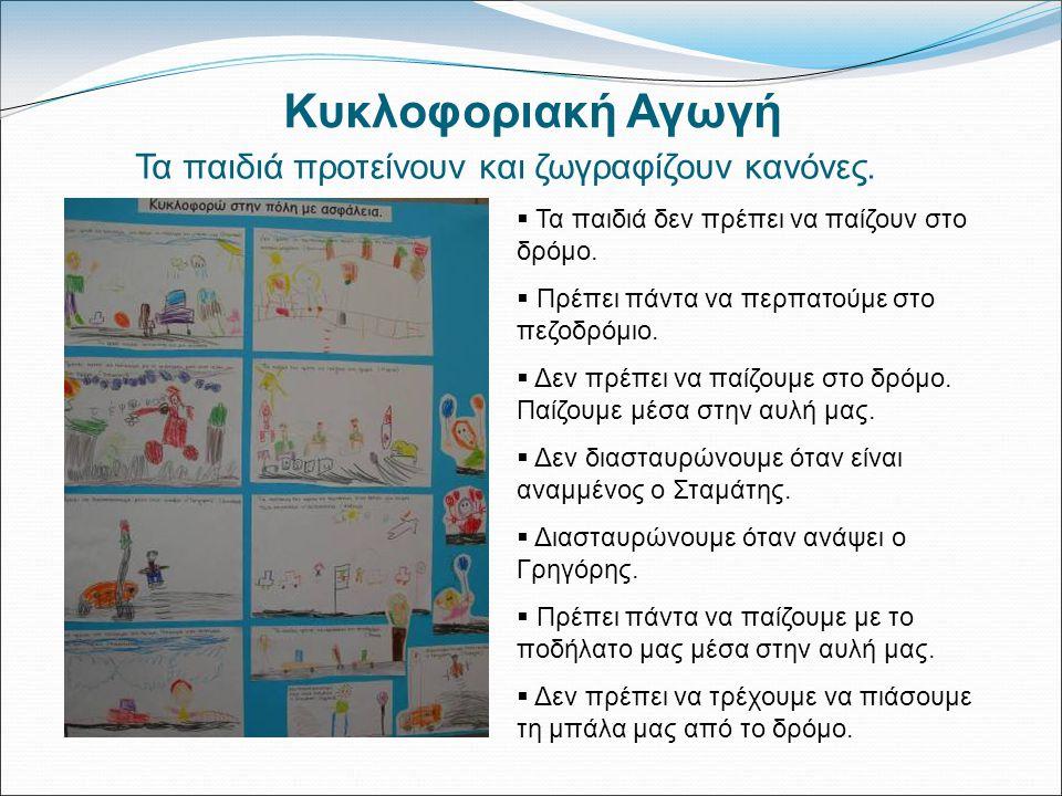 Τα παιδιά προτείνουν και ζωγραφίζουν κανόνες.