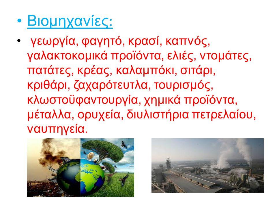 Βιομηχανίες: