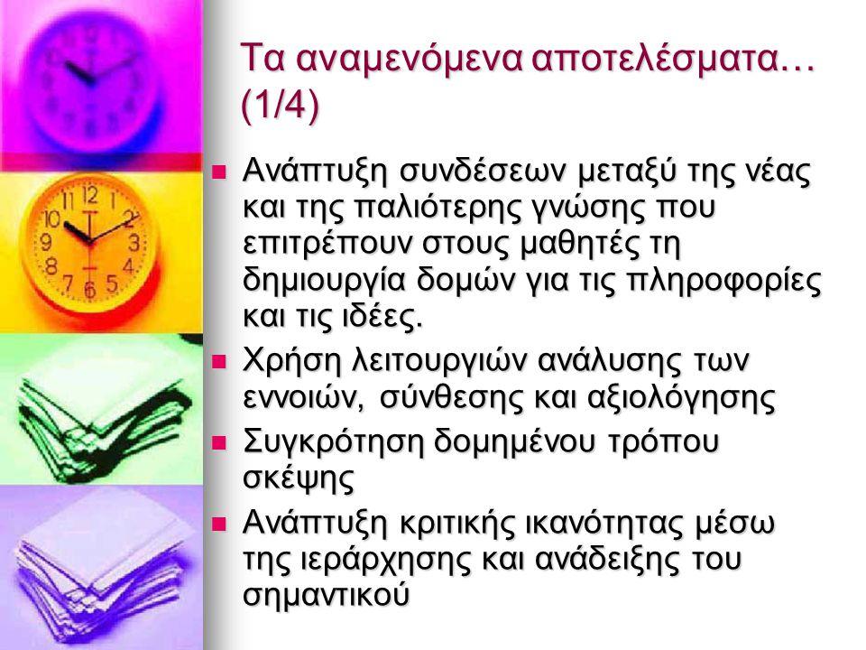 Τα αναμενόμενα αποτελέσματα… (1/4)