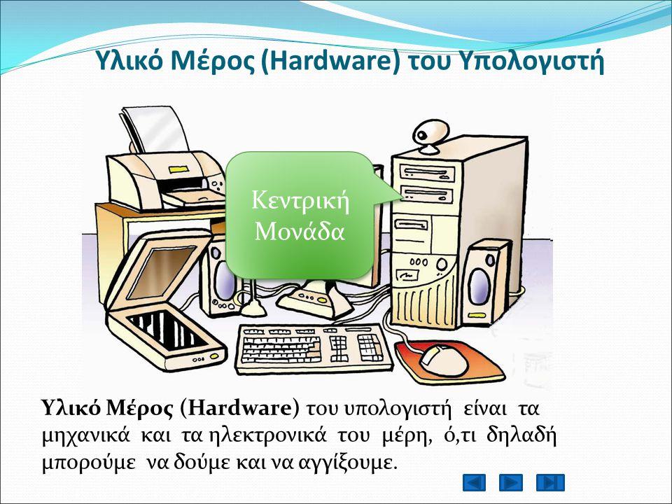 Υλικό Μέρος (Hardware) του Υπολογιστή