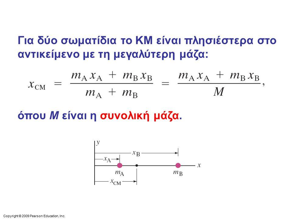 όπου M είναι η συνολική μάζα.