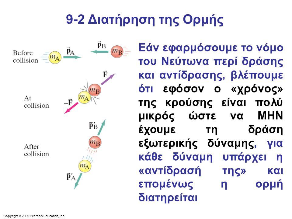 9-2 Διατήρηση της Ορμής