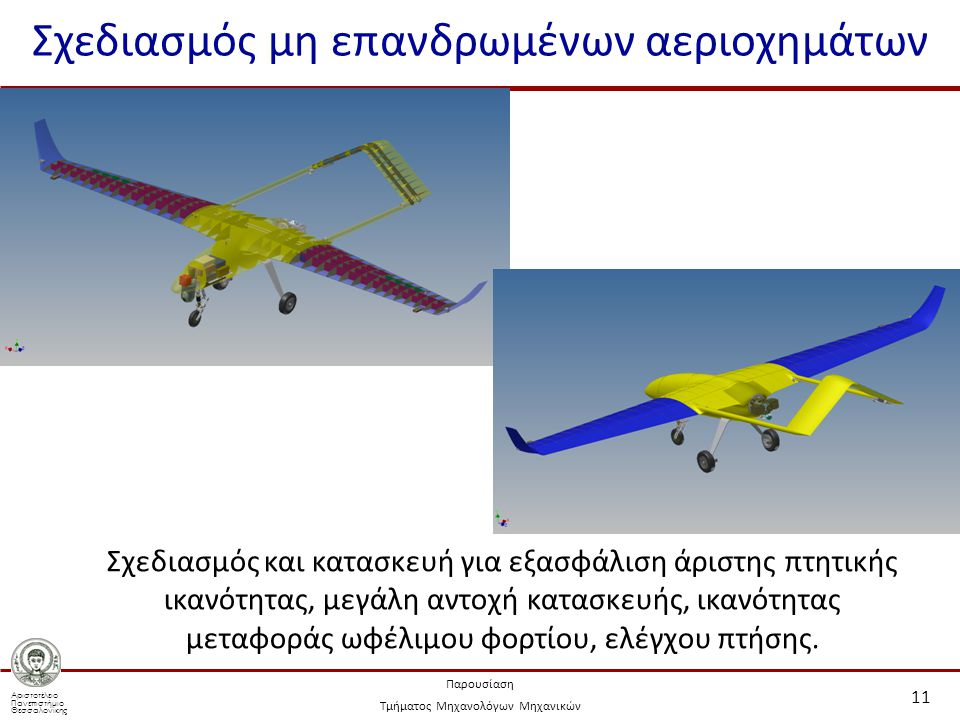 Σχεδιασμός μη επανδρωμένων αεριοχημάτων