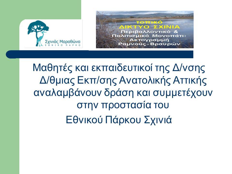 Μαθητές και εκπαιδευτικοί της Δ/νσης Δ/θμιας Εκπ/σης Ανατολικής Αττικής αναλαμβάνουν δράση και συμμετέχουν στην προστασία του