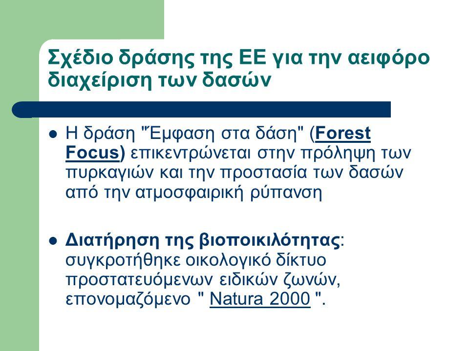 Σχέδιο δράσης της ΕΕ για την αειφόρο διαχείριση των δασών