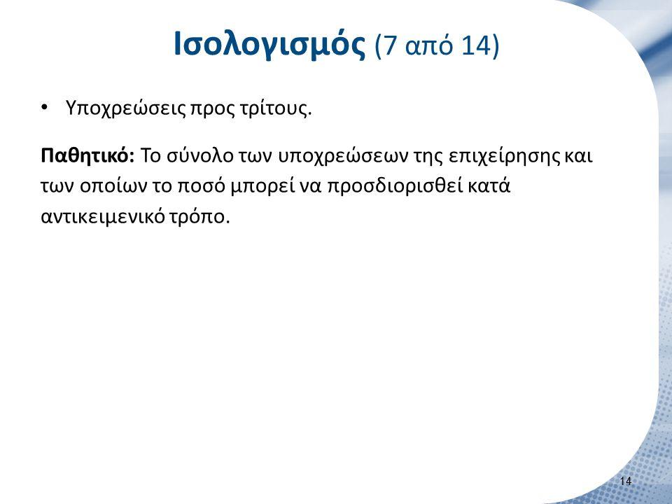 Ισολογισμός (8 από 14) Υποχρεώσεις προς το φορέα της.