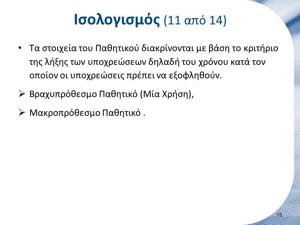 Ισολογισμός (12 από 14)
