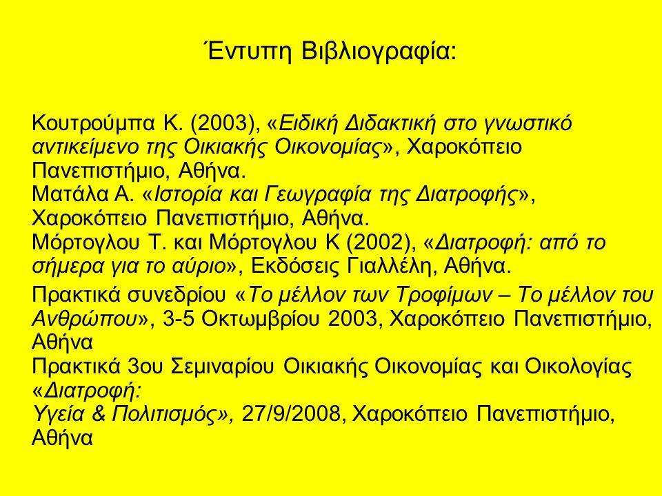 Έντυπη Βιβλιογραφία:
