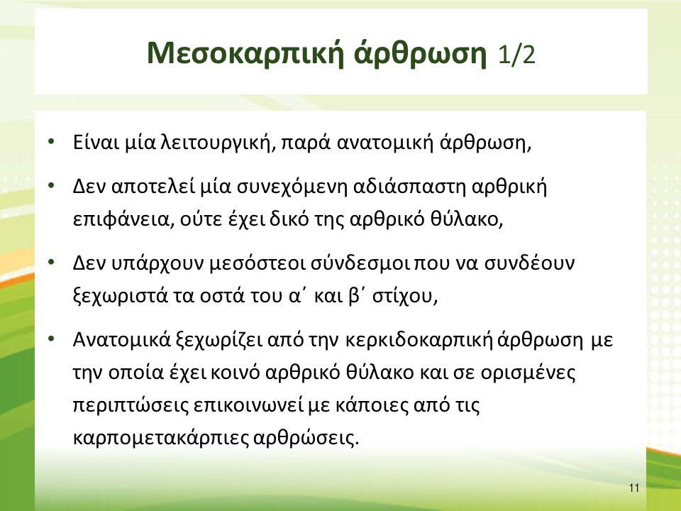 Μεσοκαρπική άρθρωση 2/2