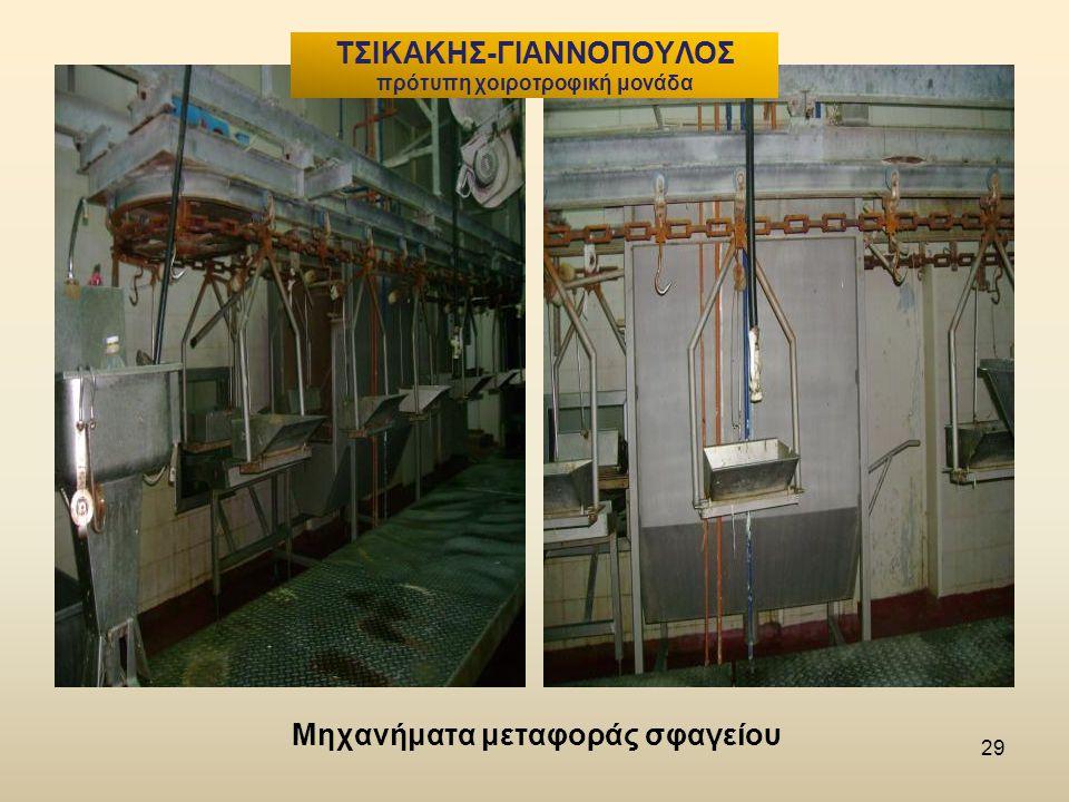 Μηχανήματα μεταφοράς σφαγείου