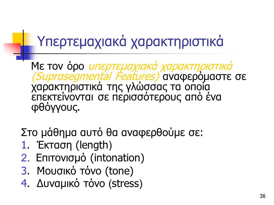 Υπερτεμαχιακά χαρακτηριστικά