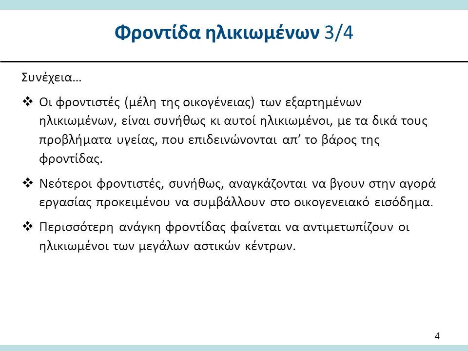 Φροντίδα ηλικιωμένων 3/4