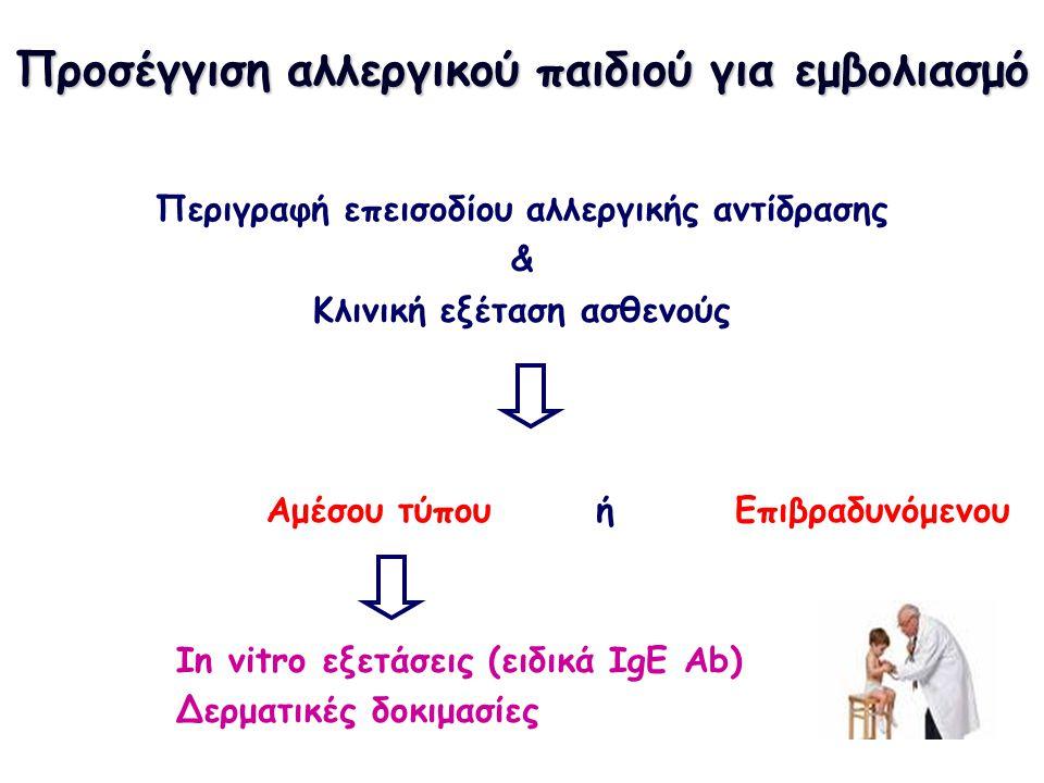 Προσέγγιση αλλεργικού παιδιού για εμβολιασμό
