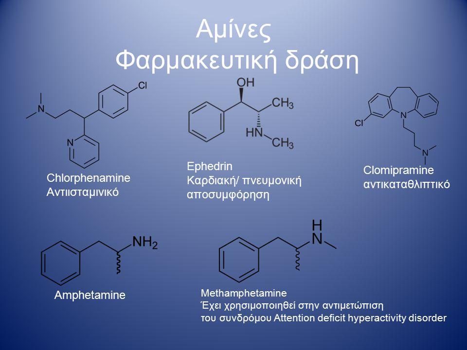 Αμίνες Φαρμακευτική δράση