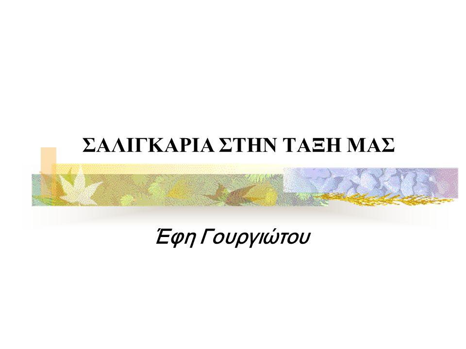 ΣΑΛΙΓΚΑΡΙΑ ΣΤΗΝ ΤΑΞΗ ΜΑΣ