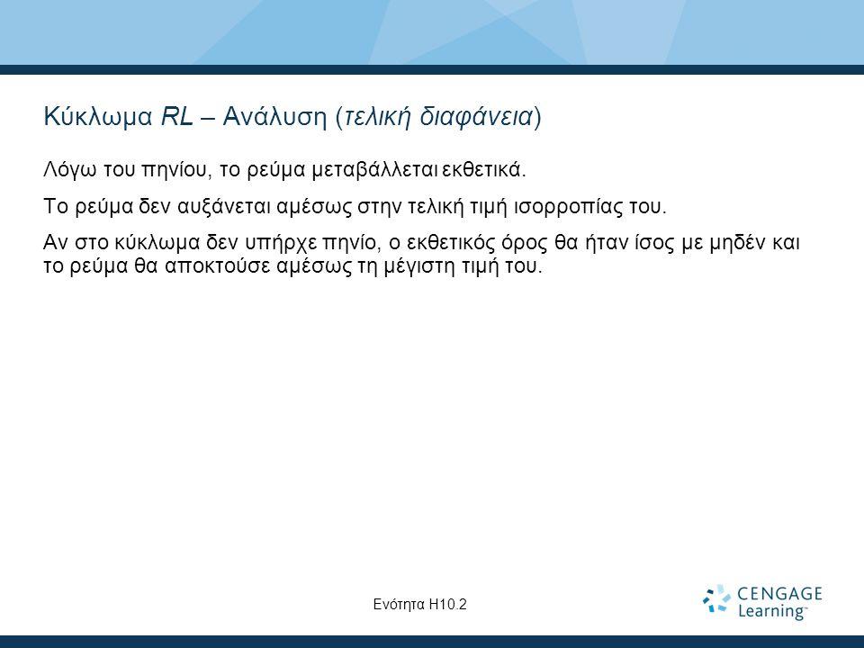 Κύκλωμα RL – Ανάλυση (τελική διαφάνεια)
