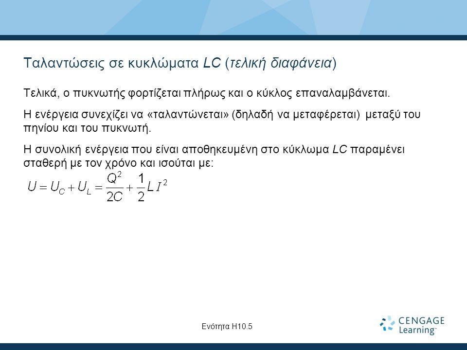 Ταλαντώσεις σε κυκλώματα LC (τελική διαφάνεια)