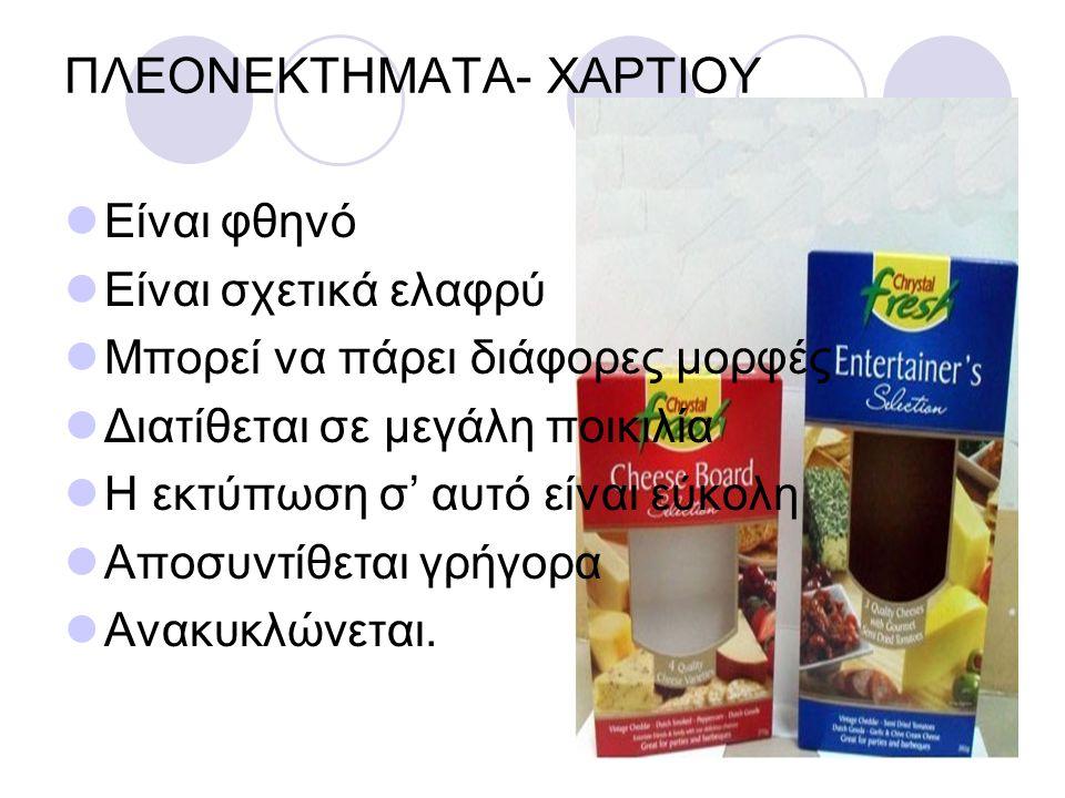 ΠΛΕΟΝΕΚΤΗΜΑΤΑ- ΧΑΡΤΙΟΥ