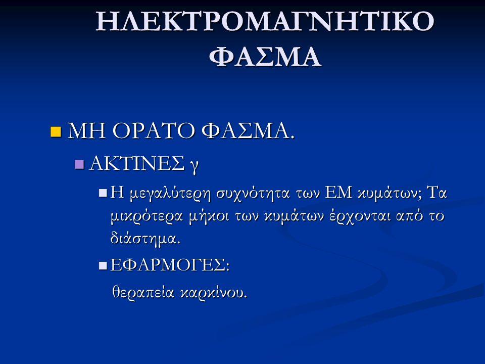ΗΛΕΚΤΡΟΜΑΓΝΗΤΙΚΟ ΦΑΣΜΑ