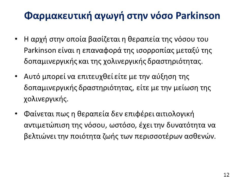 Φαρμακευτική αγωγή στην νόσο Parkinson-Λεβοντόπα (1/10)