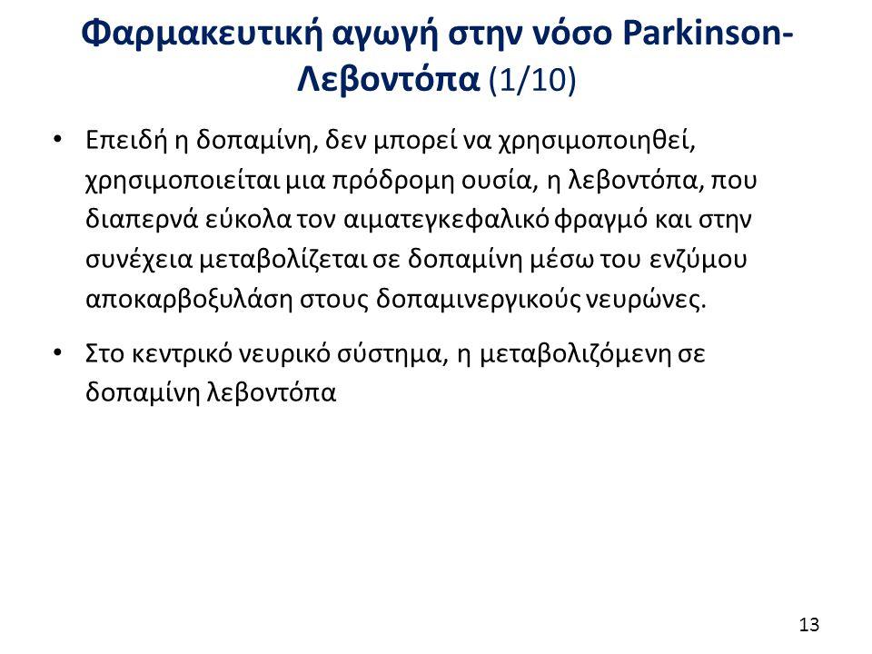 Φαρμακευτική αγωγή στην νόσο Parkinson-Λεβοντόπα (2/10)