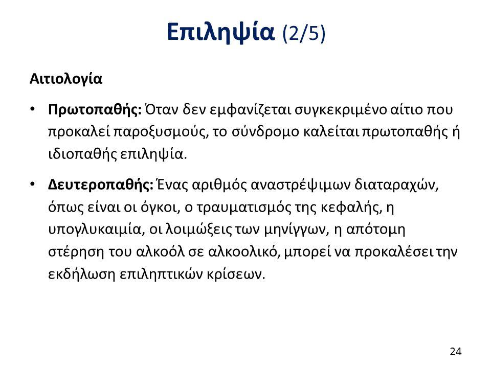 Επιληψία (3/5) Ταξινόμηση των επιληψιών