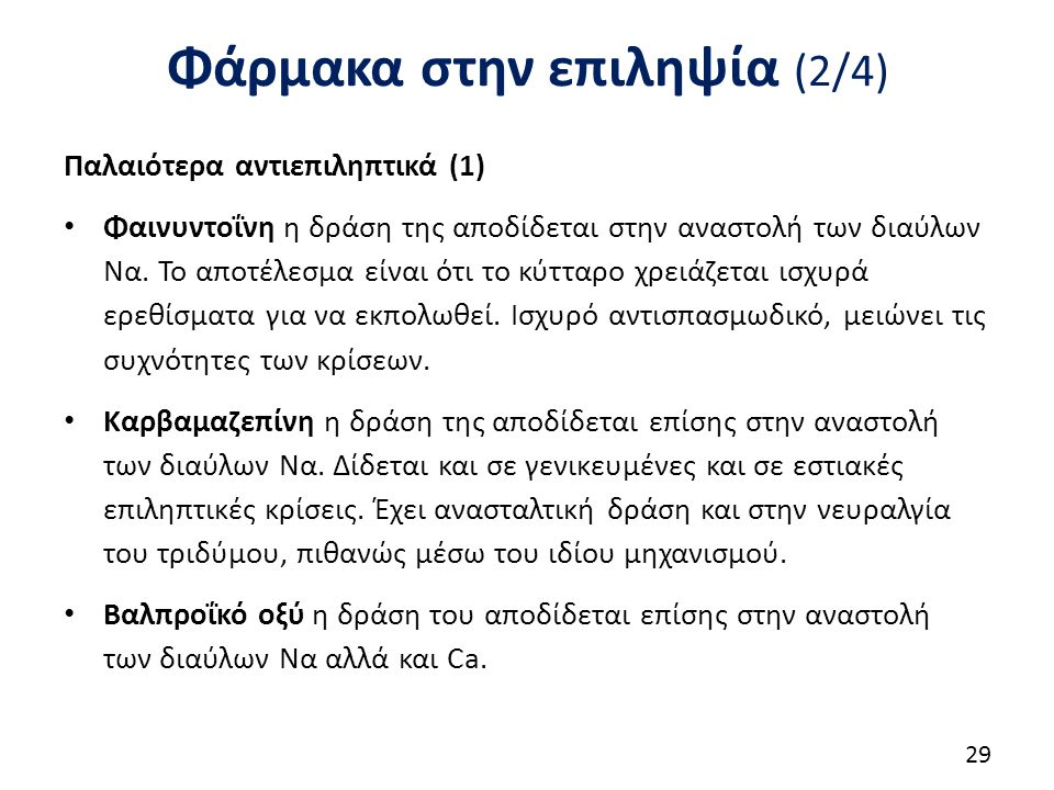 Φάρμακα στην επιληψία (3/4)