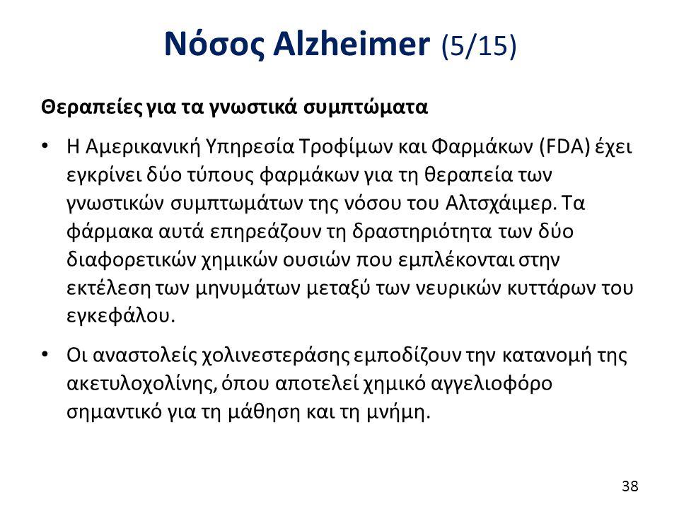 Νόσος Alzheimer (6/15) Οι αναστολείς χολινεστεράσης