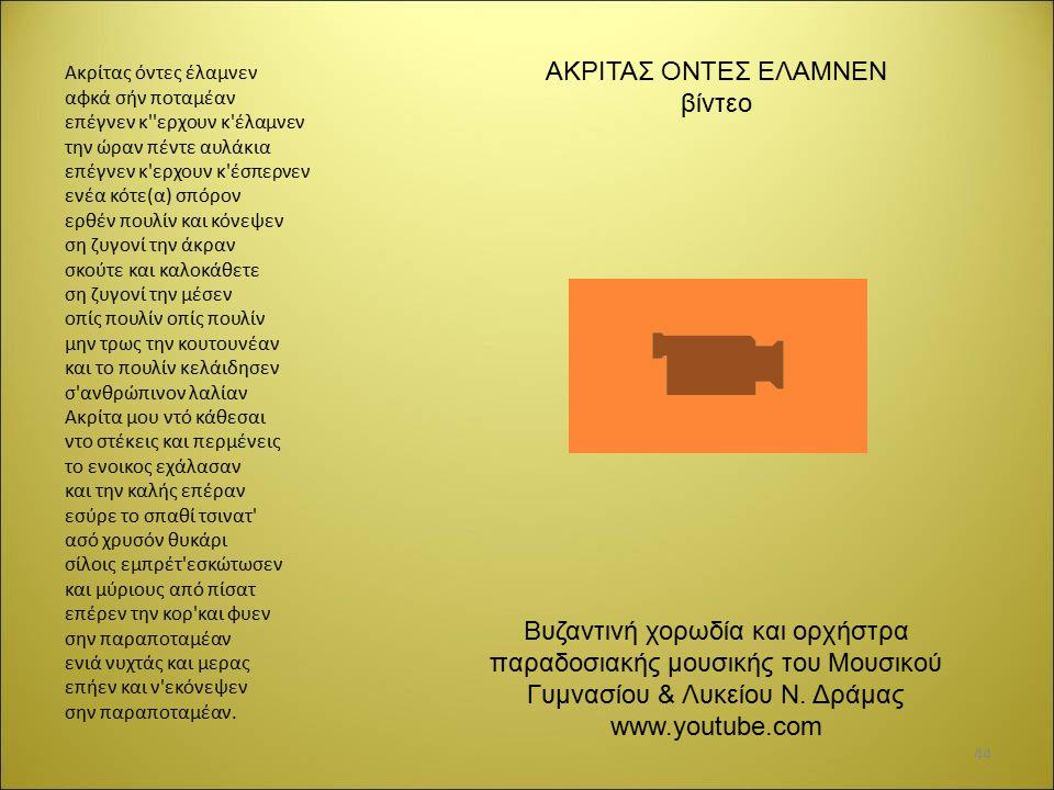 ΑΚΡΙΤΑΣ ΟΝΤΕΣ ΕΛΑΜΝΕΝ βίντεο