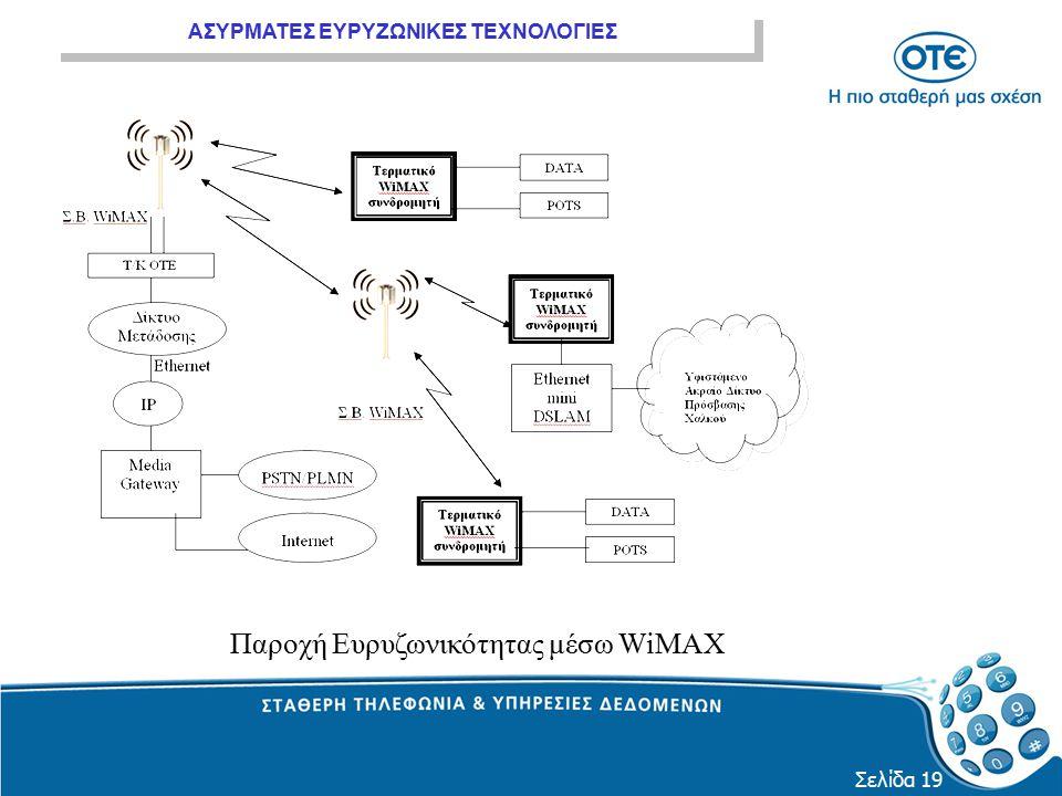 Παροχή Ευρυζωνικότητας μέσω WiMAX