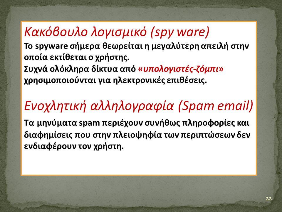 Κακόβουλο λογισμικό (spy ware)