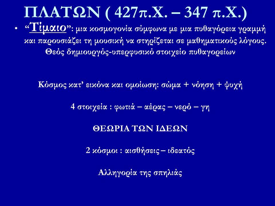 ΠΛΑΤΩΝ ( 427π.Χ. – 347 π.Χ.)