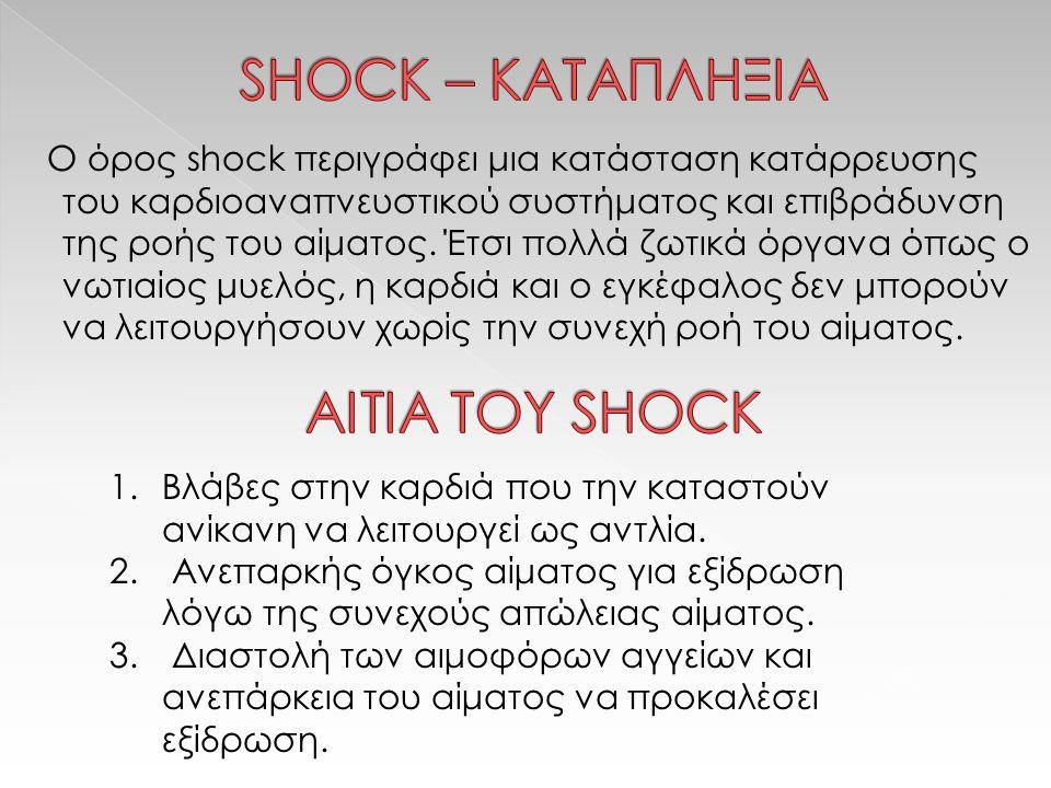 SHOCK – ΚΑΤΑΠΛΗΞΙΑ ΑΙΤΙA ΤΟΥ SHOCK